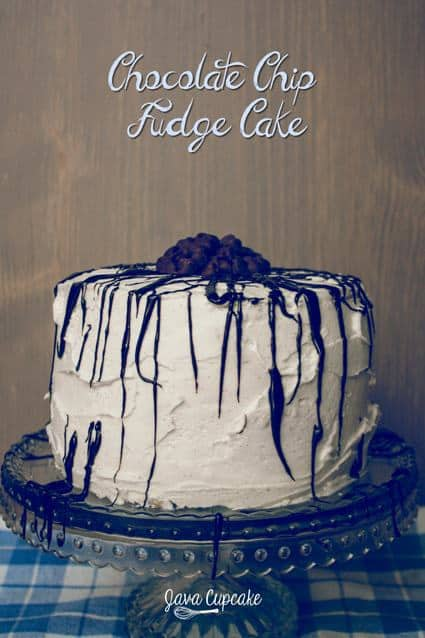 Chocolate Chip Fudge Cake | JavaCupcake.com