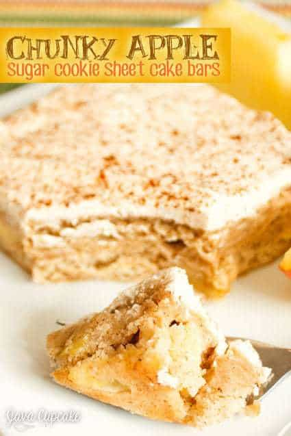 Chunky Apple Sugar Cookie Sheet Cake Bars - Chunks of apples fill this ...