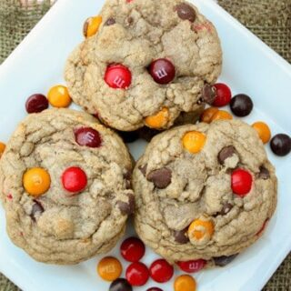 Cinnamon Chocolate Chip M&M Cookies