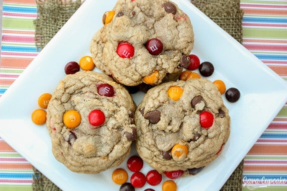Cinnamon Chocolate Chip Cookies | JavaCupcake.com