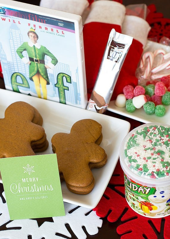 """Elf"" themed deployment care package 