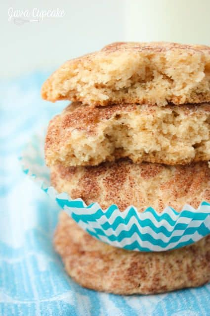 Apple Snickerdoodles - freshly shredded apples add another layer of deliciousness to these classic cookies! | JavaCupcake.com