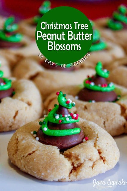 12 Days of Cookies - Day 2: Christmas Tree Peanut Butter Blossoms ...