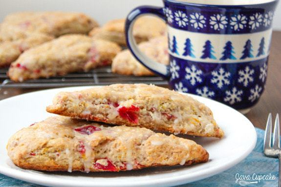 Cranberry Sauce Orange Scones