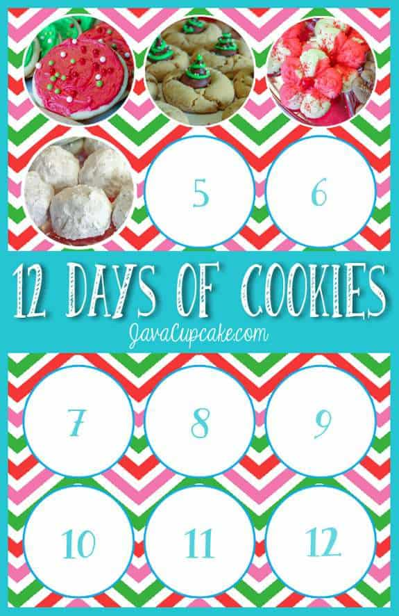 12 Days of Cookies | JavaCupcake.com