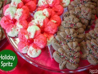 Holiday Spritz Cookies - Peppermint & Chocolate | JavaCupcake.com
