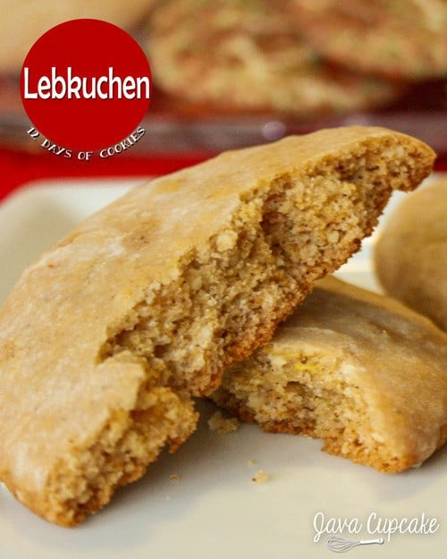 Lebkuchen - a traditional German holiday cookie made with almonds, spices and honey | JavaCupcake.com