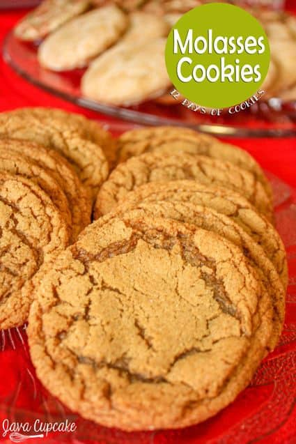 Chewy Molasses Cookies | JavaCupcake.com