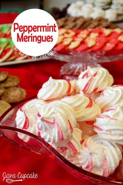 Peppermint Meringues | JavaCupcake.com