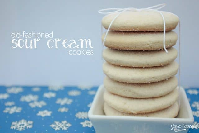 Old-Fashioned Sour Cream Cookies | JavaCupcake.com #BringtheCOOKIES