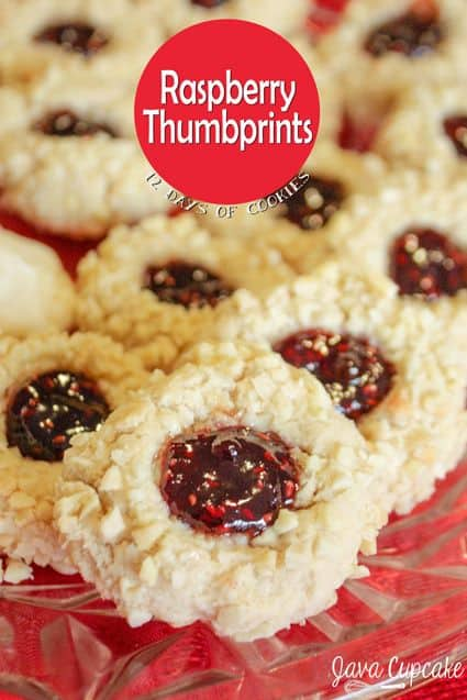 ... Days of Cookies - Day 9: Raspberry Thumbprints - The JavaCupcake Blog