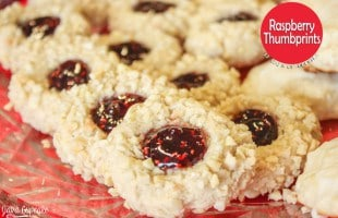12 Days of Cookies – Day 9: Raspberry Thumbprints