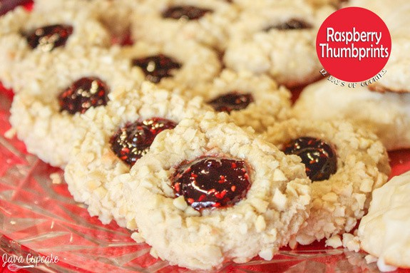 Raspberry Thumbprint Cookies | JavaCupcake.com