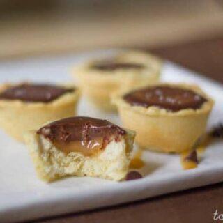 Salted Caramel Chocolate Tartlets