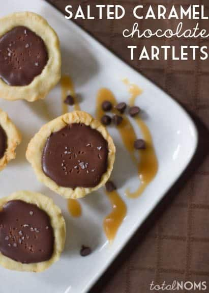 Salted Caramel Chocolate Tartlets by TotalNoms for JavaCupcake.com