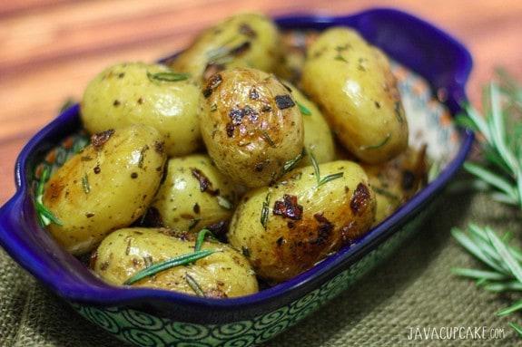 German Style Rosemary Potatoes | JavaCupcake.com