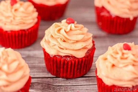Red Hot Velvet Cupcakes