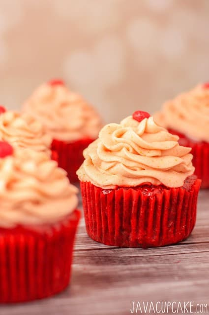 Red Hot Velvet Cupcakes   JavaCupcake.com