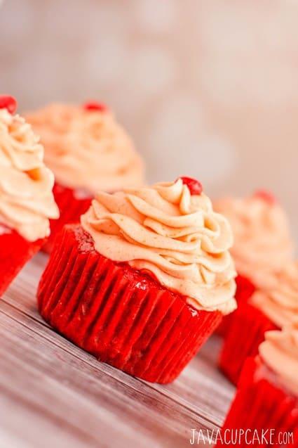 Red Hot Velvet Cupcakes | JavaCupcake.com