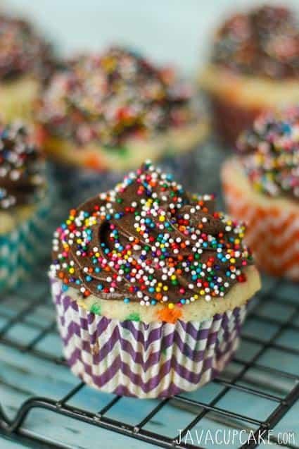 Chocolate Funfetti Cupcakes | JavaCupcake.com