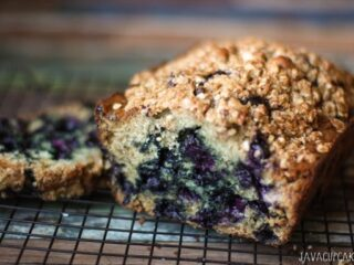 Blueberry Banana Bread - Kick your banana bread up a notch with the addition of juicy blueberries!   JavaCupcake.com