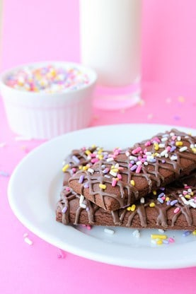 Chocolate Drizzled Cookie Sticks by Make Bake Celebrate for JavaCupcake.com