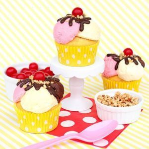 Banana Split Cupcakes by Make Bake Celebrate for Better Homes & Gardens