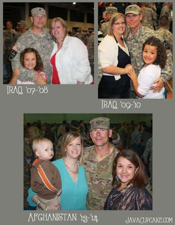 The moment my husband returned from each of his deployments | JavaCupcake.com