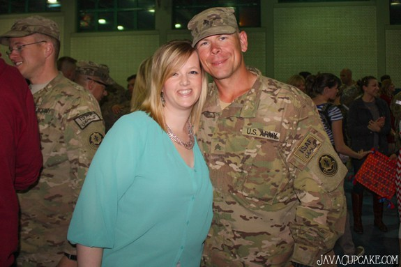 Welcome Home to my Soldier! 3 April 14 - Vilseck, Germany | JavaCupcake.com