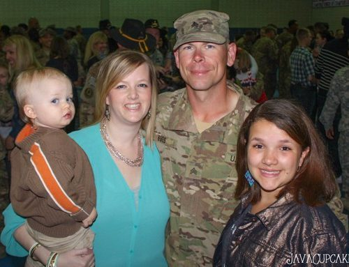 My family together at last! Welcome Home to our Soldier! 3 April 14 - Vilseck, Germany | JavaCupcake.com