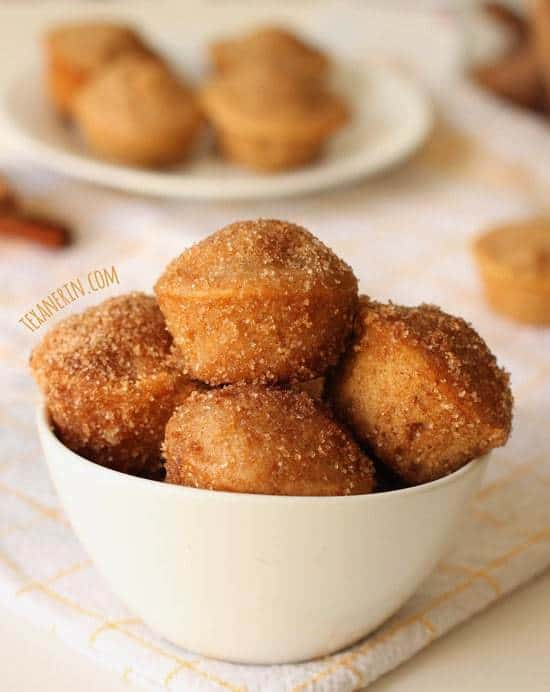 Cinnamon Sugar Donut Muffins by Texanerin Baking for JavaCupcake.com