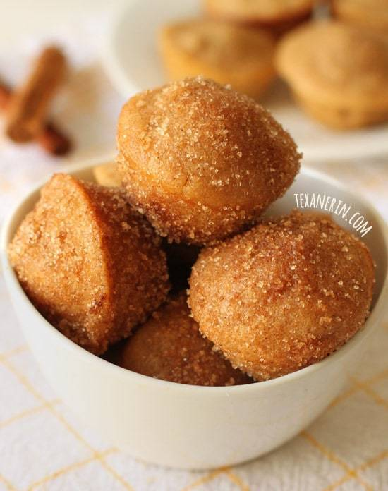 Cinnamon Sugar Donut Muffins by Texanerin Baking for JavaCupcake.com