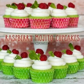 Raspberry Mojito Cupcakes