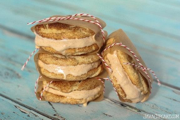 Snickerdoodle Ice Cream Sandwiches | JavaCupcake.com