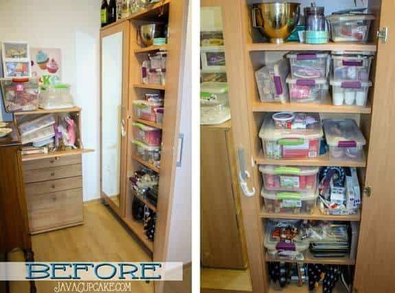 The Great Baking Closet Clean Out | JavaCupcake.com