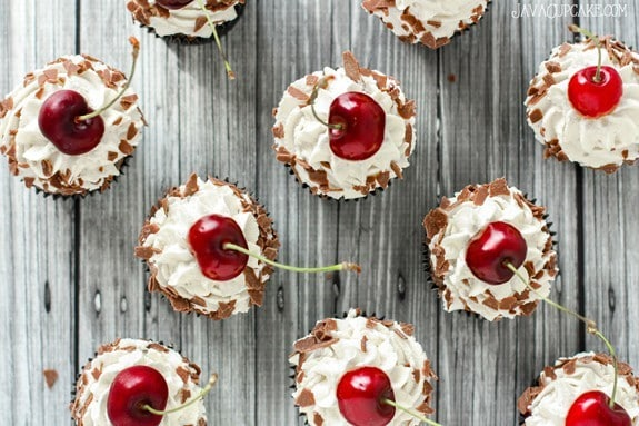 Authentic Black Forest Cupcakes - made with a traditional recipe & German ingredients | JavaCupcake.com