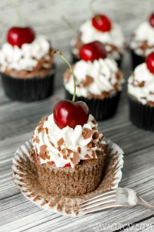 Authentic Black Forest Cupcakes - made with a traditional recipe & German ingredients   JavaCupcake.com