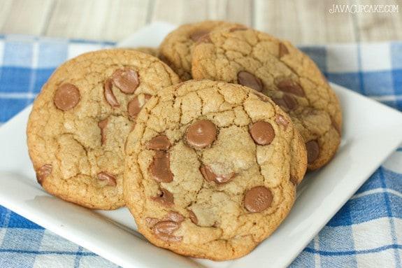 Jumbo Browned Butter Chocolate Chip Cookies Recipe   JavaCupcake.com