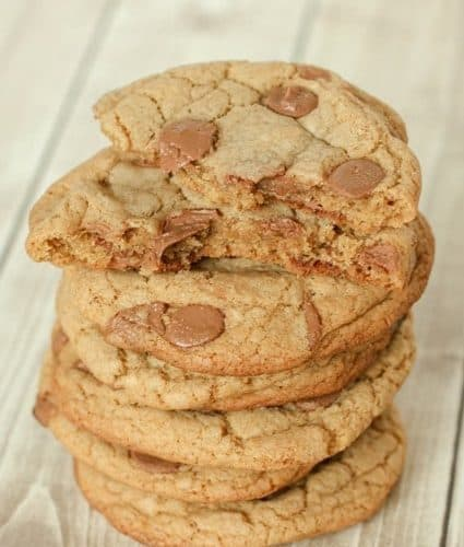 Jumbo Browned Butter Chocolate Chip Cookies Recipe | JavaCupcake.com
