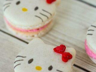 Hello Kitty Macarons - Recipe & Tutorial | JavaCupcake.com