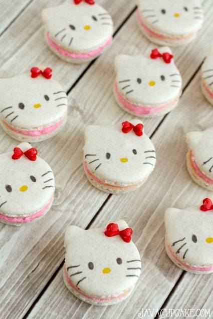Hello Kitty Macarons  Javacupcake