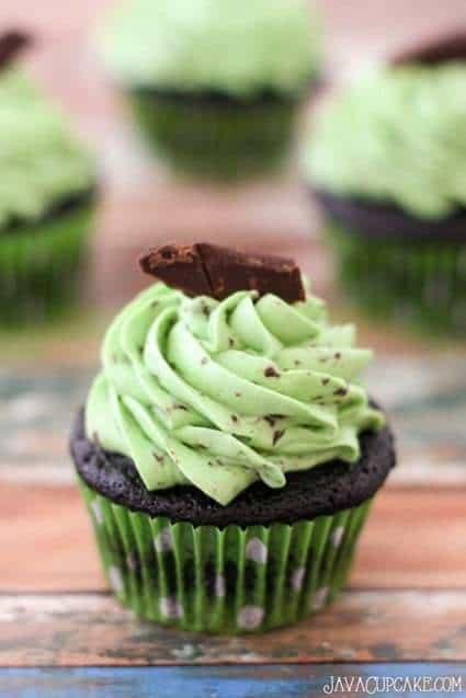 Chocolate Chip Mint Cupcakes | JavaCupcake.com