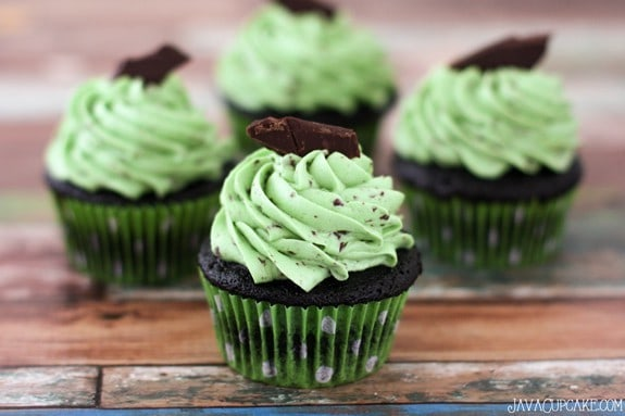Chocolate Chip Mint Cupcakes | JavaCupcake.com