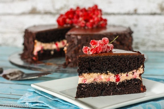 Chocolate Red Currant Creme Cake