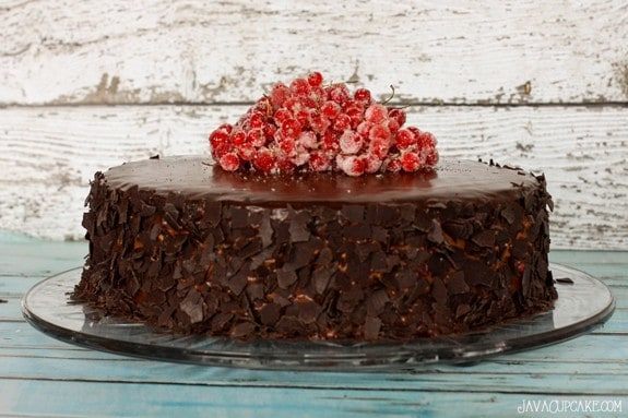 Chocolate Red Currant Creme Cake #RedCurrantWeek | JavaCupcake.com