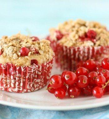 Red Currant Streusel Muffins #RedCurrantWeek   JavaCupcake.com