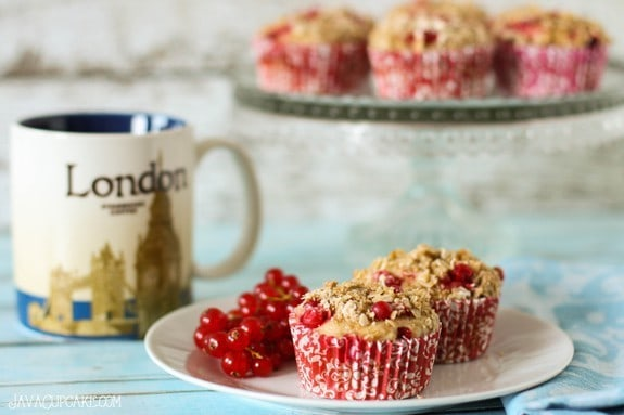 Red Currant Streusel Muffins #RedCurrantWeek | JavaCupcake.com