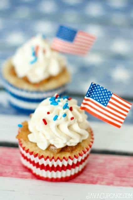 Patriot Day Apple Pie Cupcakes
