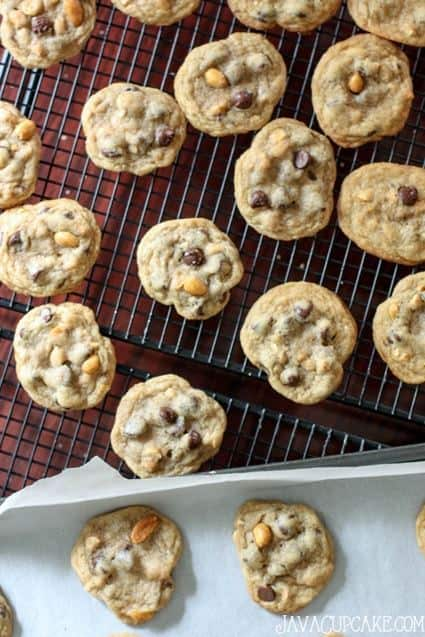 Salted Caramel Peanut and Chocolate Chip Cookies | JavaCupcake.com