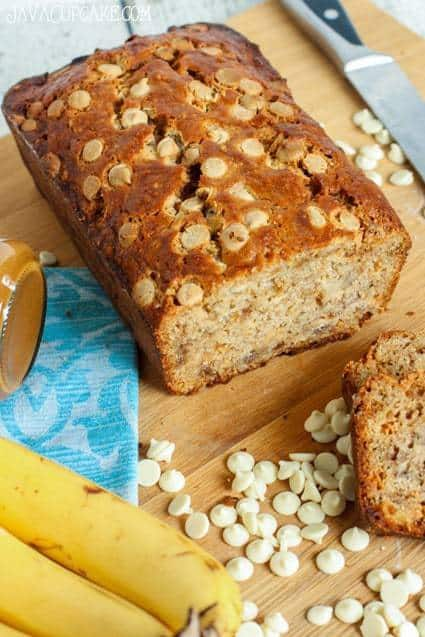 Biscoff White Chocolate Chip Banana Bread